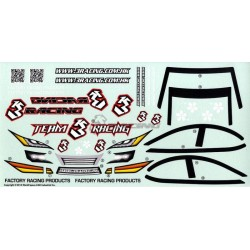 3 RACING 1/10 TOURING CAR BODY DECAL SET