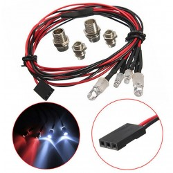 SET DE LUCES LED CON SOPORTES DE 5 Y 3MM (4U)
