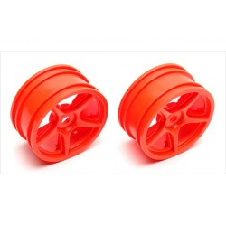 ASSOCIATED 5-SPOKE WHEELS, ORANGE
