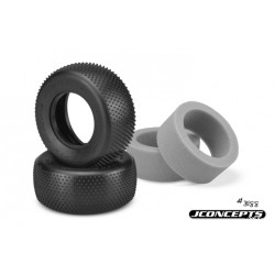 JCONCEPTS 1:10 SHORT COURSE PIN DOWNS (PINK - MEDIUM SOFT) WITH GREY INSERTS - 2 PCS.