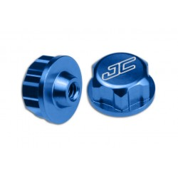 JCONCEPTS - ASSOCIATED BATTERY HOLD DOWN (THUMB) NUT - BLUE  (SC10)