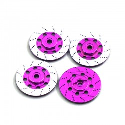ALUMINUM BRAKE DISC WHEEL ADAPTOR FOR RC CAR (PINK)