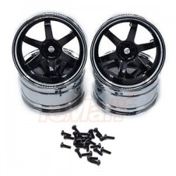 3 RACING T37 6 SPOKE RIM 8J-11J BLACK