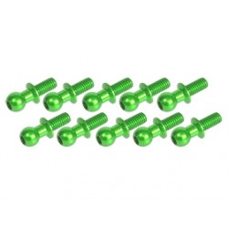 3 RACING ALUMINUM BALL STUD GREEN