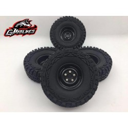 4 RUEDAS 1/10 RC LAND ROVER BLACK 114MM