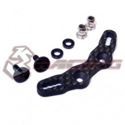 3 RACING GRAPHITE FRONT SHOCK TOWER  FOR M07