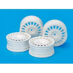 TAMIYA MEDIUM-NARROW  MESH RIM 4PCS WHITE