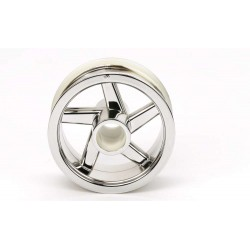TAMIYA T3-01 FRONT WHEEL (CHROME PLATED)