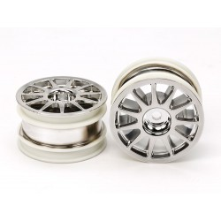 TAMIYA M-CHASSIS 11 SPOKE WHEELS (CHROME PLATED)