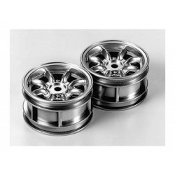 TAMIYA M-CHASSIS 8 SPOKE WHEELS (PLATED)