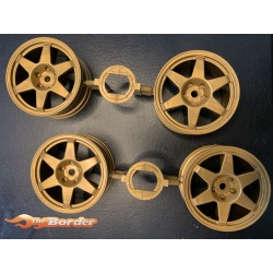 LLANTAS TAMIYA MB190E DIEBELS ALT  WHEELS (GOLD 6 SPOKE)