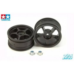 TAMIYA REINFORCED ONE-PIECE SPOKE  WHEELS (1 PAIR)