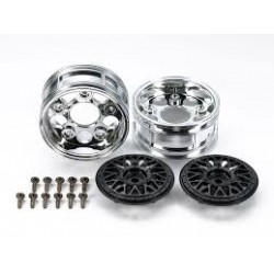 LLANTAS TAMIYA MESH RIM 2-PIECE WHEELS (BLACK)