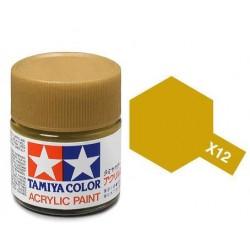 TAMIYA X12 ORO BRILLANTE BRILLANTE