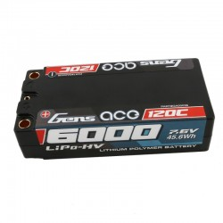 GENS-ACE  HV 7,6V 6000MAH 120C SHORTY HARDCASE