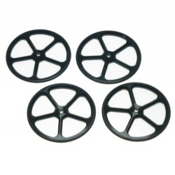YEAH RACING ALUMINUM SET UP WHEELS FOR 1/10RC TOURING CAR (BK)