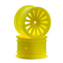 TEAM C REAR RIM BLIZZARD/X4 YELLOW (2PCS)