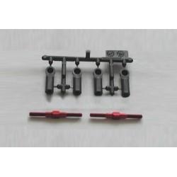 TAMIYA 3X35MM ALU TURNBUCKLE SHAFTS (RED/2 PCS)