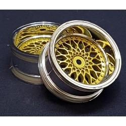 2 LLANTAS 1/10RC BBS GOLD (+9)