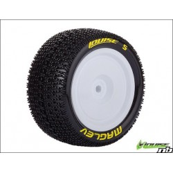LOUISE RC E-MAGLEV 1/10 EP BUGGY REAR TIRES MOUNTED (SUPER SOFT)
