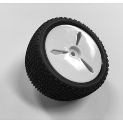 LOUISE RC E-GROOVE1/10 EP BUGGY REAR TIRES MOUNTED (SOFT)