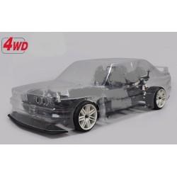 FG 1/5 4X4  KIT ELECTRIC BMW M3 E30 CLEAR BODY 510E