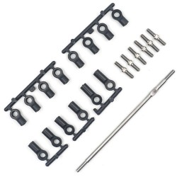 YEAH RACING TITANIUM TURNBUCKLE SET FOR TAMIYA M07