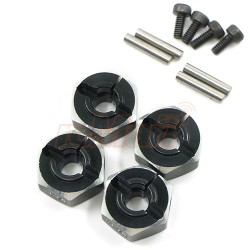 YEAH RACING ALUMINUM WHEEL ADAPTOR SET 12X6MM