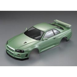 "KILLERBODY NISSN SKYLINE R34 ""CHAMPAGNE-GREEN"" FINISHED BODY"