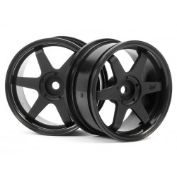 HPI TE37 WHEEL 26MM WHITE (3MM OFFSET)