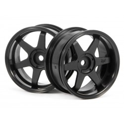 HPI TE37 WHEEL 26MM WHITE (6MM OFFSET)