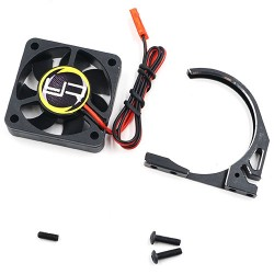 YEAH RACING ALUMINUM 7075 FAN MOUNT W/ YA-0327 40MM TORNADO FAN FOR 1/8 MOTOR BLACK