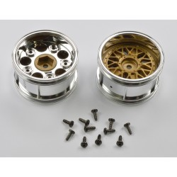 TAMIYA 2-PIECE WIDE MESH WHEELS (30MM)
