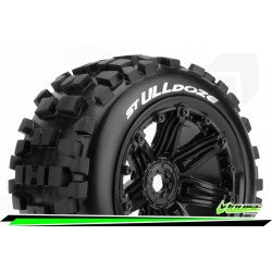 LOUISE RC ST-ULLDOZE 1/8 STADIUM TRUCK TIRE SET 3.8 BEAD STYLE WHEELS 2PCS