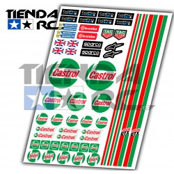 CASTROL DECAL SET