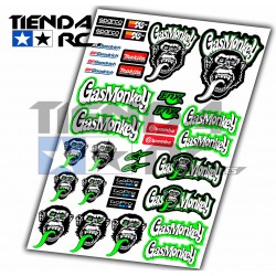 GAS MONKEY DECAL SET