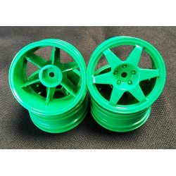 LLANTAS TAMIYA MB190E DEBIS  WHEELS (GREEN 6 SPOKE)