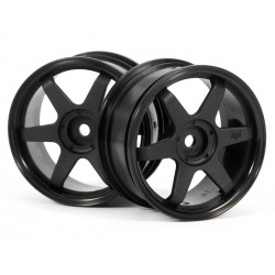 HPI TE37 WHEEL 26MM  BLACK (0MM OFFSET)