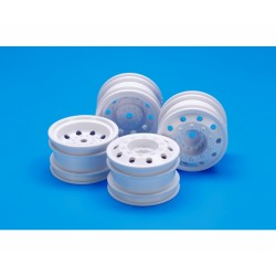 TAMIYA ON ROAD RACING TRUCK WHEEL (WHITE)