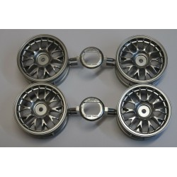TAMIYA SILVER PLATTED ONE-PIECE MESH WHEELS