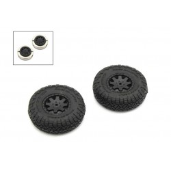 KYOSHO PREMOUNTED TIRE W/WEIGHT (2PCS)