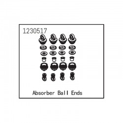 ABSIMA SHOCK ABSORBER BALL ENDS