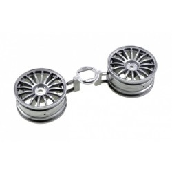 LLANTAS TAMIYA 16 SPOKE ONE PIECE WHEELS (GREY)