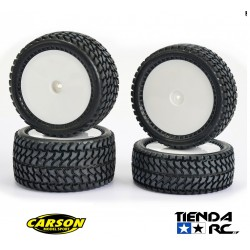 CARSON 1/10 ALL TERRAIN 4WD WHEEL SET (12MM HEX)