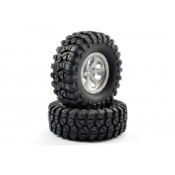 RGT PRE-MOUNTED TIRE SET TYPE 1 (GREY) 136100V2