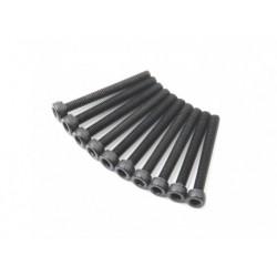 SCREW SOCKET HEAD HEX M3X26 STEEL BLACK (10PCS)