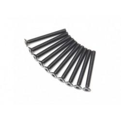 SCREW COUNTERSUNK HEX 3X28MM STEEL BLACK (10PCS)