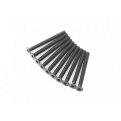 SCREW COUNTERSUNK HEX 3X32MM STEEL BLACK (10PCS)
