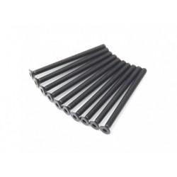 SCREW COUNTERSUNK HEX 3X40MM STEEL BLACK (10PCS)