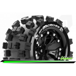 LOUISE RC MT-MCROSS - 1-10 MONSTER TRUCK TIRE SET - MOUNTED - SOFT - B